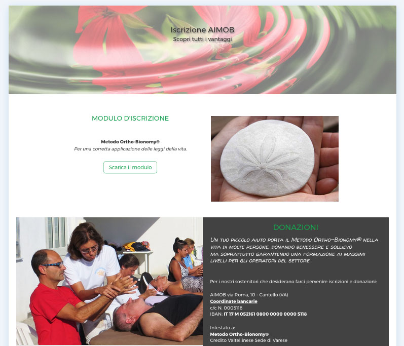 Iscrizione AIMOB sito web nuovo